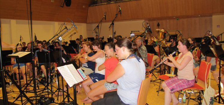 Musikverein Grafenrheinfeld SBO CD-Aufnahme 34 Grad Kulturhalle