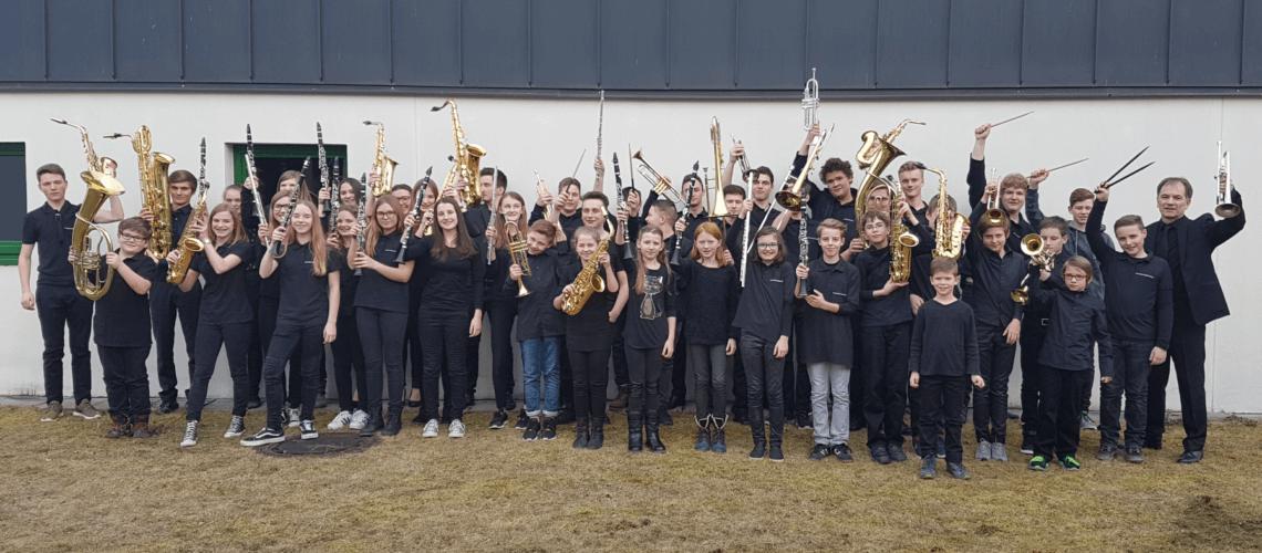 JBO Jugendblasorchester Grafenrheinfeld Youngsters Nachwuchs Instrumente