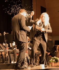 Mythen Legenden Sagen Musikverein Grafenrheinfeld Rocky Horror Picture Show Florian Lutz Marius Berchtold Frühjahrskonzert 2017