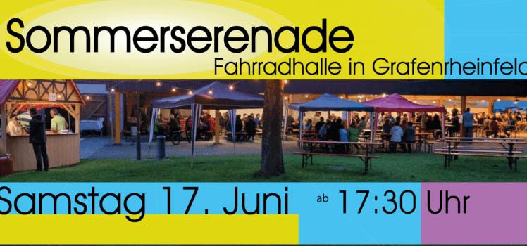 Musikverein Grafenrheinfeld Symphonisches Blasorchester Jugendblasorchester JBO SBO Sommerserenade Sommer Serenade 2017 Fahrradhalle