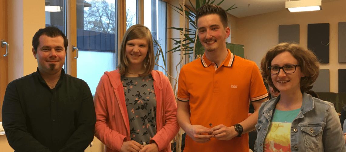 Jahreshauptversammlung Musikverein Grafenrheinfeld 2017 Ehrung NBMB Dominik Berchtold Selina Werner Florian Lutz Melanie Hantschel