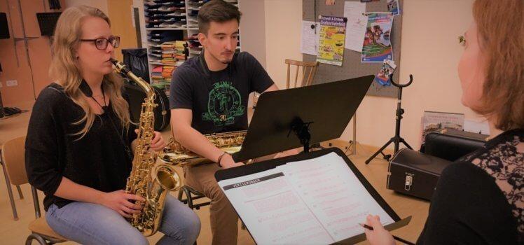 Saxophon Workshop Musikverein Grafenrheinfel SBO Symphonisches Blasorchester Schweinfurt Magdi Haßelbacher Florian Lutz Florence Nance Sax