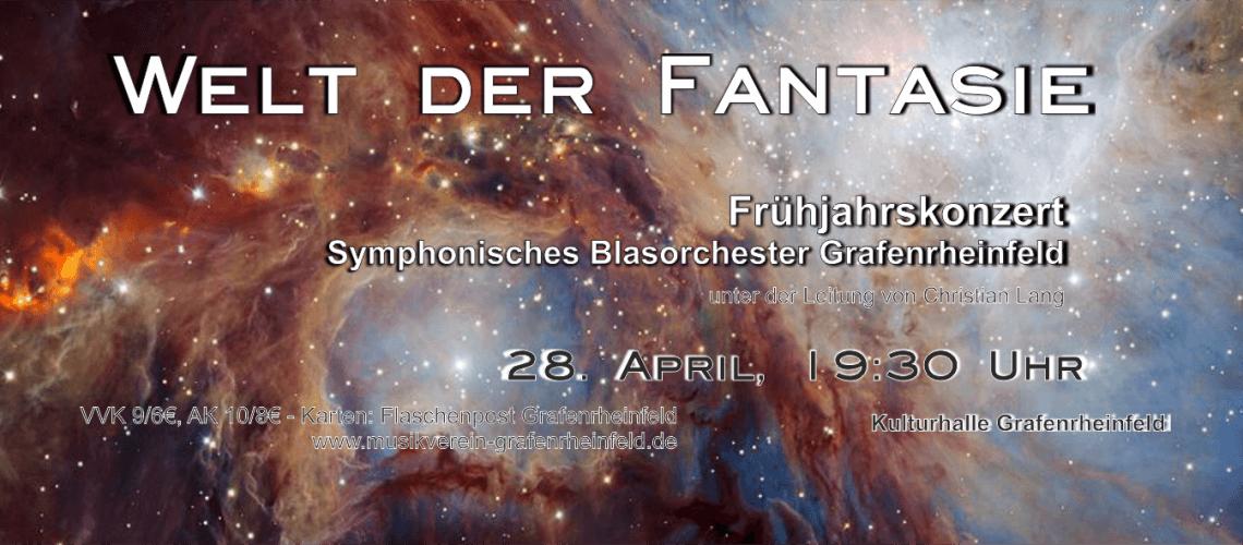 Musikverein Grafenrheinfeld Welt der Fantasie Frühjahrskonzert 2018 Symphonisches Blasorchester SBO 28. April Christian Lang Kulturhalle