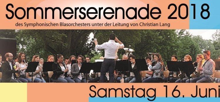 Musikverein Grafenrheinfeld Symphonisches Blasorchester SBO Sommerserenade Sommer Serenade 2018 Fahrradhalle