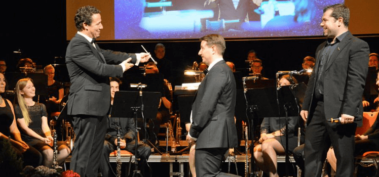 Musikverein Grafenrheinfeld Symphonisches Blasorchester SBO Christian Lang Raphael Schollenberger Dominik Berchtold Hit-Giganten 25 Jahre Schweinfurt Orchester Jubiläum