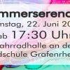 Musikverein Grafenrheinfeld Sommerserenade Serenade 2019 Fahrradhalle Grafenrheinfeld SBO Raphael Schollenberger Dirigent Saxxy Rafelder Musikanten Symphonisch Fest Schweinfurt