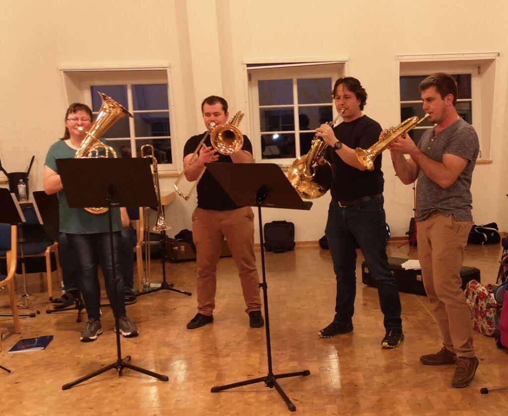 Musikverein Grafenrheinfeld Dirigentenassistent Fire in the Glen Quartett