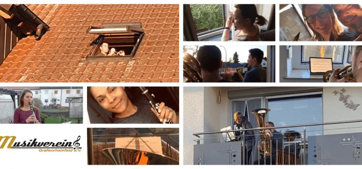 Musik aus dem Fenster SBO Grafenrheinfeld Balkon Ode an die Freude Beethoven