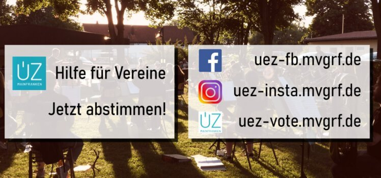 ÜZ Hilfe für Vereine Musikverein Grafenrheinfeld Absitmmung