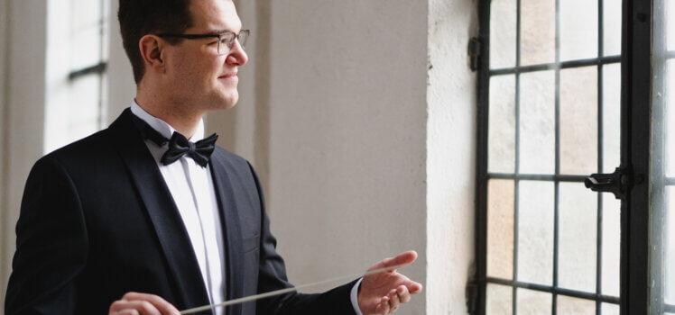 Julius Geiger Musikverein SBO Grafenrheinfeld Dirigent symphonisches Blasorchester Unterfranken Foto: Katharina Gebauer