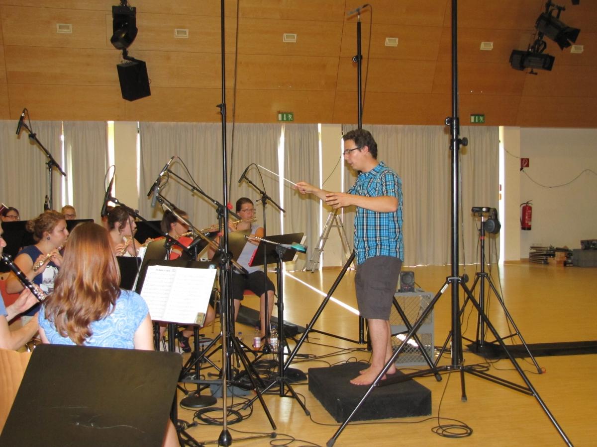 Musikverein Grafenrheinfeld Christian Lang Dirigent Orchester SBO CD Aufnahme 34 Grad Rafeld Schweinfurt